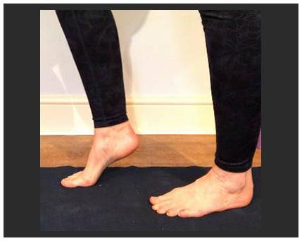feet taking steps