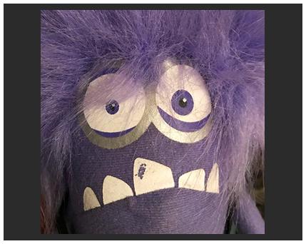 purple toy puppet