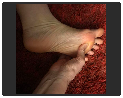 feet with hands