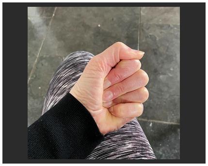 clasped hand photo