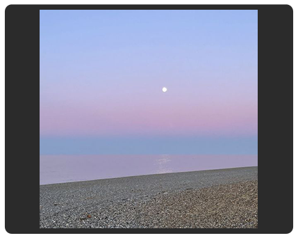 moon rising over the sea