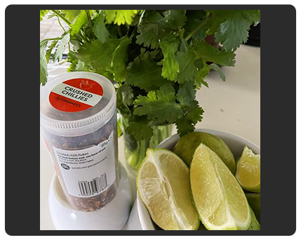chilli coriander and limes photo